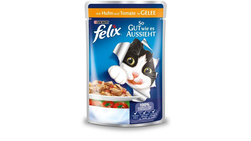 felix Katzennassfutter So gut wie es aussieht in Gelee mit Huhn und Tomate