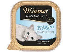 Miamor Katzennassfutter Milde Mahlzeit Gefluegel Pur Lachs