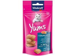 Vitakraft Katzensnack Cat Yums Lachs Omega 3