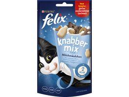 felix Katzensnacks KnabberMix Milchmaeulchen mit Milch Joghurt und Kaesegeschmack