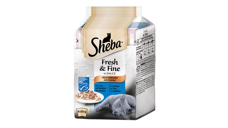 SHEBA Fresh Fine in Sauce Fisch Variation MSC Multipack