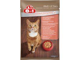 8in1 Katzennassfutter mit Lachs in Sauce
