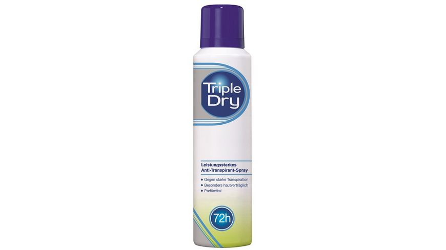 Triple Dry Antitranspirant Spray Parfuemfrei