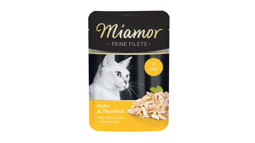 Miamor Katzennassfutter Feine Filets in Jelly Huhn Thunfisch