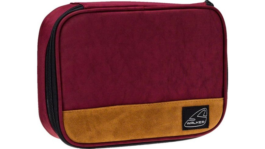 WALKER Rucksack CRINKLE 2teilig dark red