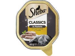 SHEBA Schale Classics in Pastete mit Gefluegel Cocktail 85g