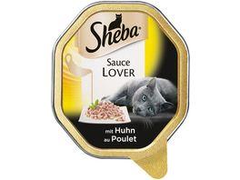 Sheba Katzennassfutter Sauce Lover mit Huhn