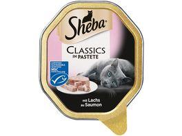 Sheba Katzennassfutter Classics mit Lachs MSC