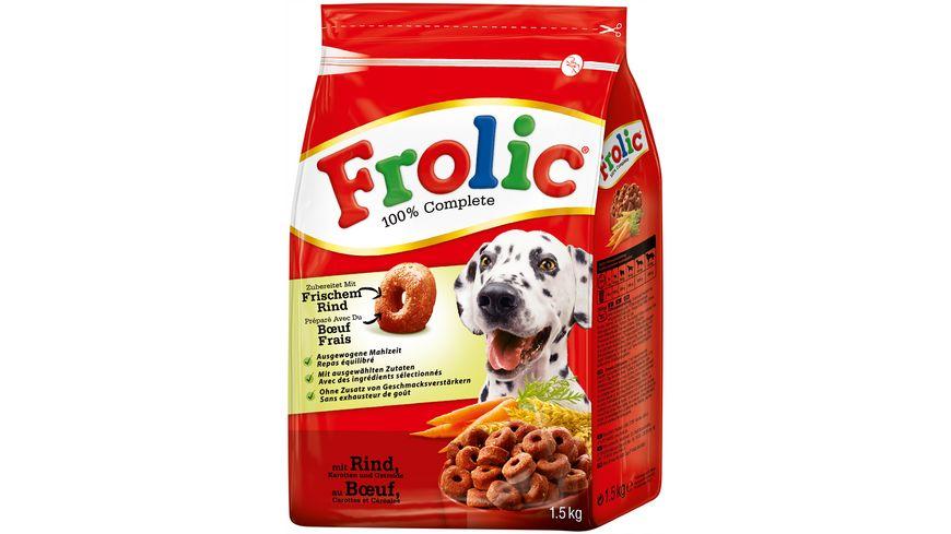 Frolic Hundetrockenfutter mit Rind Karotten und Getreide