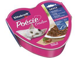 Vitakraft Katzennassfutter Poesie Seelachs mit Pasta Tomate in Sauce