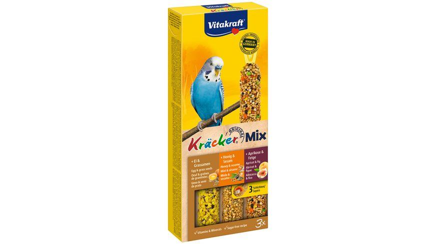 Vitakraft Kraecker Trio Mix Ei Frucht Honig Sittiche