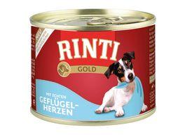 RINTI Hundenassfutter Gold Gefluegel Herzen