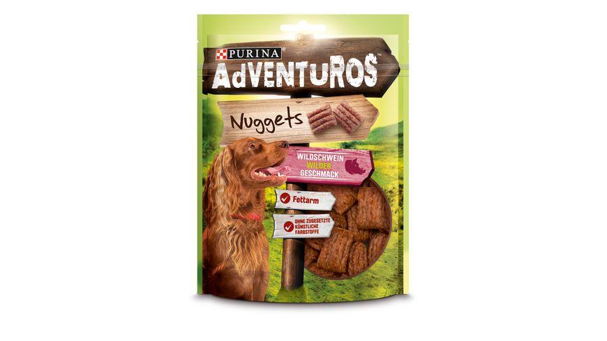 Purina Hundeleckerlis AdVENTuROS Nuggets mit Wildschweingeschmack