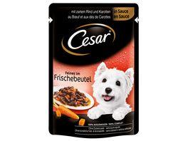 Cesar Hundenassfutter Rind und Karotten in Sauce