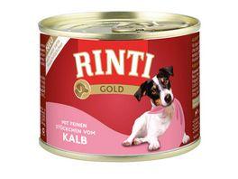 RINTI Hundenassfutter Gold Kalb