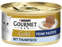Purina GOURMET Katzennassfutter Gold Feine Pastete mit Thunfisch