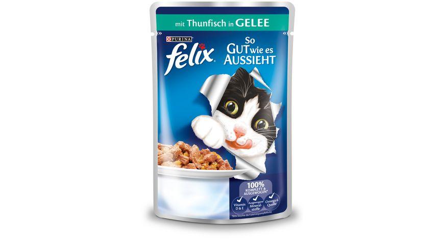 felix Katzennassfutter So gut wie es aussieht in Gelee mit Thunfisch