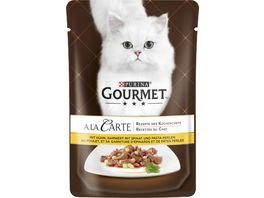 Purina GOURMET Katzennassfutter A la Carte mit Huhn garniert mit Pasta Perlen