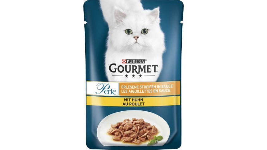 Purina GOURMET Katzennassfutter Perle Erlesene Streifen mit Huhn