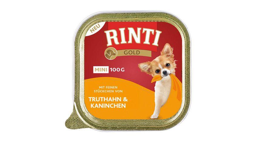 RINTI Hundenassfutter Gold Mini Truthahn Kaninchen