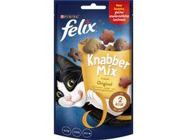 felix Katzensnacks KnabberMix Original mit Huhn Leber Truthahngeschmack