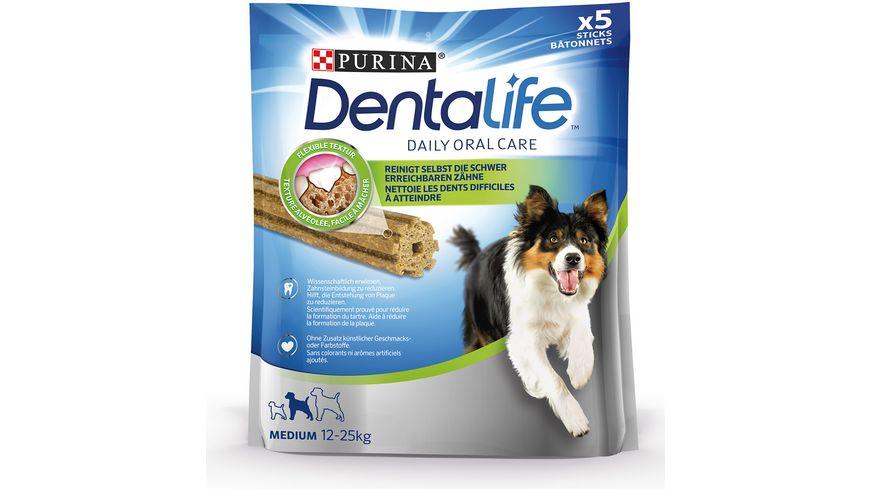 Purina DentaLife Medium Taegliche Zahnpflege Snacks fuer mittelgrosse Hunde