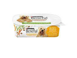 Purina Beneful Hundenassfutter Schlemmermenue mit leckerem Huhn Karotten und gruenen Bohnen