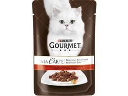 Purina GOURMET Katzennassfutter A la Carte mit Rind an erlesenem Sommergemuese
