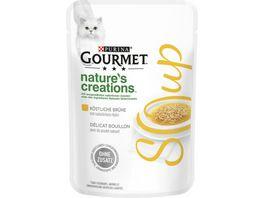 Purina GOURMET Katzennassfutter Crystal Soup Koestliche Bruehe mit naturbelassenem Huhn