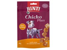 RINTI Hundesnack Chicko Plus Kaesewuerfel