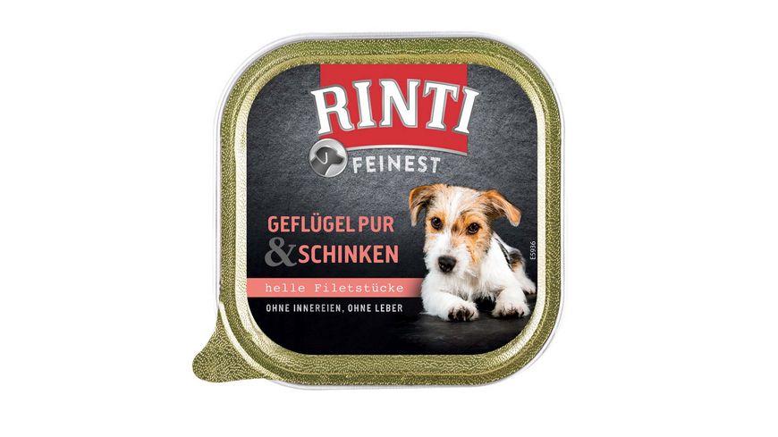 RINTI Hundenassfutter Feinest Gefluegel Pur Schinken