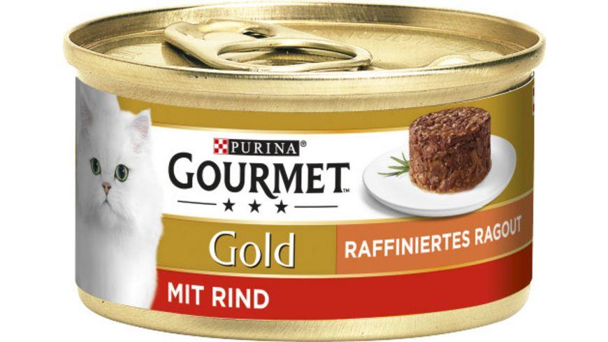 Purina GOURMET Katzennassfutter Gold Raffiniertes Ragout mit Rind