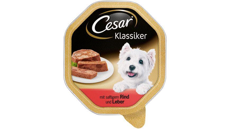 Cesar Hundenassfutter Klassiker Rind Leber