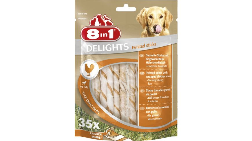 8in1 Delights Twisted Sticks gedrehte Kausticks 35 Stueck