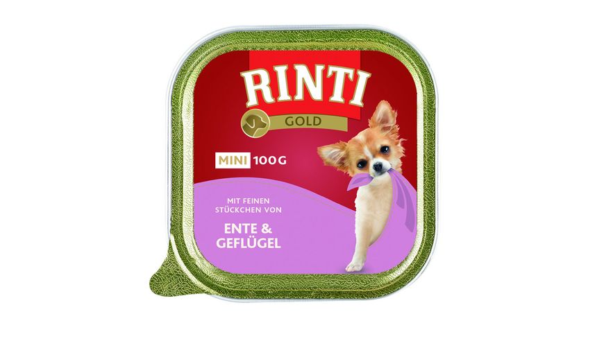 RINTI Hundenassfutter Gold Mini Ente Gefluegel