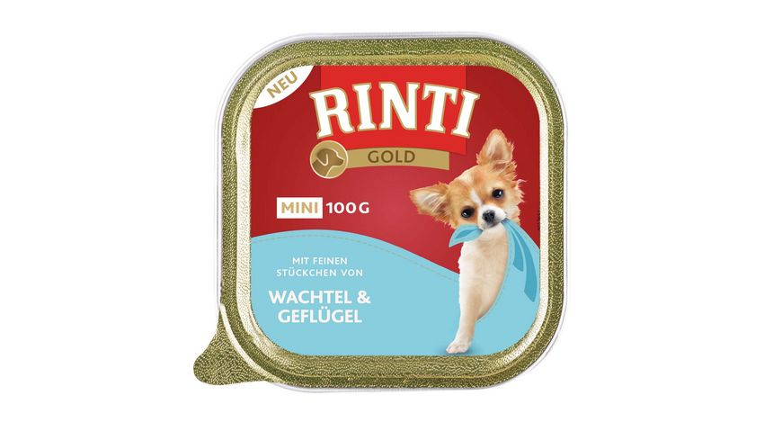 RINTI Hundenassfutter Gold Mini Wachtel Gefluegel