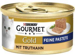 Purina GOURMET Katzennassfutter Gold Feine Pastete mit Truthahn