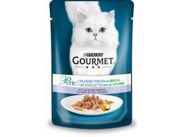 Purina GOURMET Katzennassfutter Perle Erlesene Streifen Kalb und Gemuese