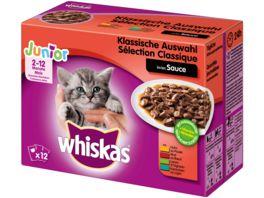 WHISKAS Portionsbeutel Multipack Junior Klassische Auswahl in Sauce 12 x 100g