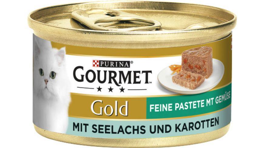 Purina GOURMET Katzennassfutter Gold Feine Pastete mit Seelachs Karotten