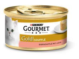 Purina GOURMET Katzennassfutter Gold Souffle mit Lachs