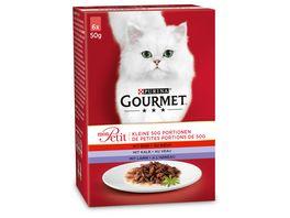 Purina GOURMET Katzennassfutter Mon Petit mit Rind Kalb und Lamm 6x50g Portionsbeutel