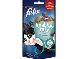 felix Katzensnacks KnabberMix Strandspass mit Lachs Seelachs und Forellengeschmack