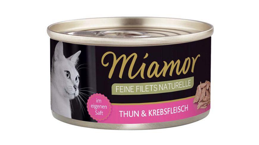 Miamor Katzennassfutter Feine Filets naturelle Thunfisch Krebsfleisch