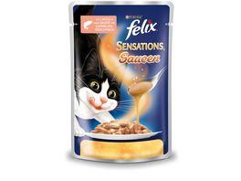 felix Katzennassfutter Sensations Saucen mit Lachs Garnelengeschmack