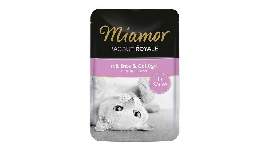 Miamor Katzennassfutter Ragout Royale in Sauce Ente Gefluegel