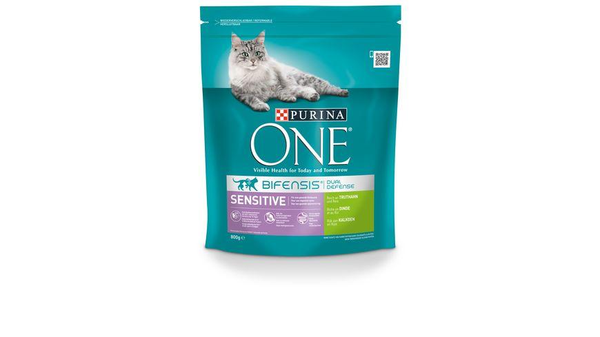 Purina ONE Katzentrockenfutter BIFENSIS® Sensitive, Reich an TRUTHAHN und Reis