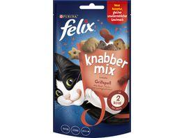 felix Katzensnacks KnabberMix Grillspass mit Rind Huhn und Lachsgeschmack