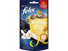 felix Katzensnacks KnabberMix Dreikaesehoch mit Cheddar Gouda und Edamerkaesegeschmack