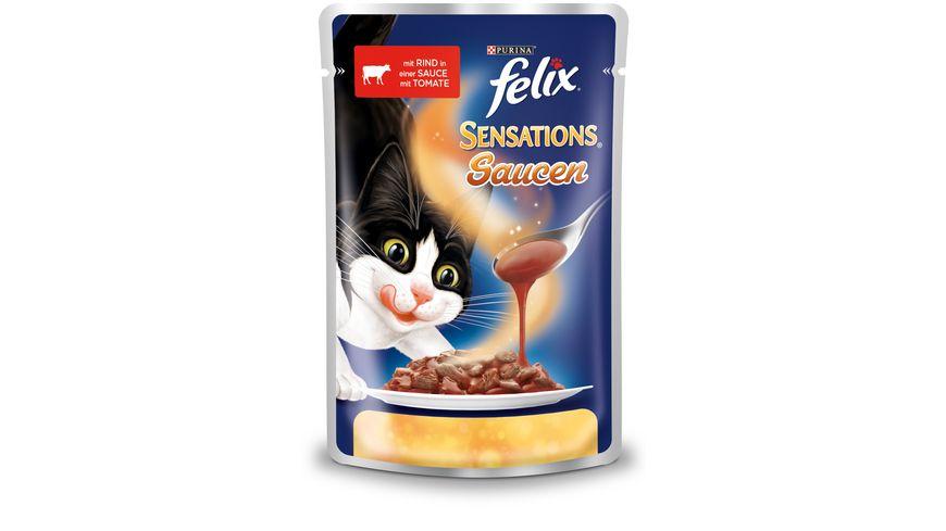 felix Katzennassfutter Sensations Saucen mit Rind Tomate